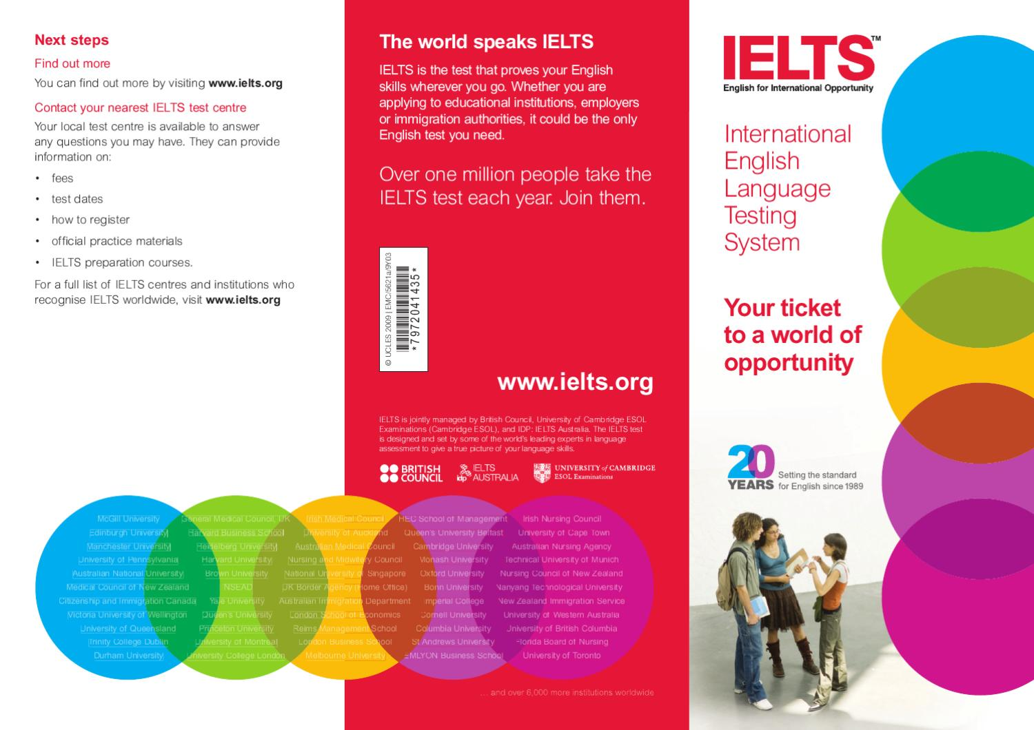 IELTS leaflet for Candidates by British Council - issuu