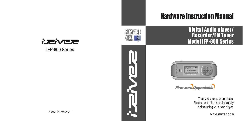 iriver ifp 899 user guide by alireza rezayee issuu rh issuu com Digital Jukebox Iriver Drivers