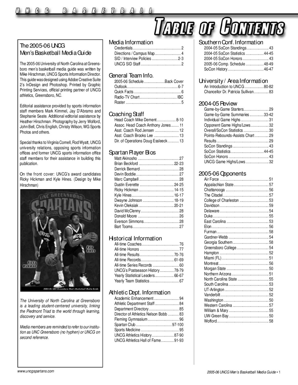 2005 06 Uncg Mens Basketball Media Guide By Athletics Issuu Sterling Wiring Diagram 2002 Fan Clutch