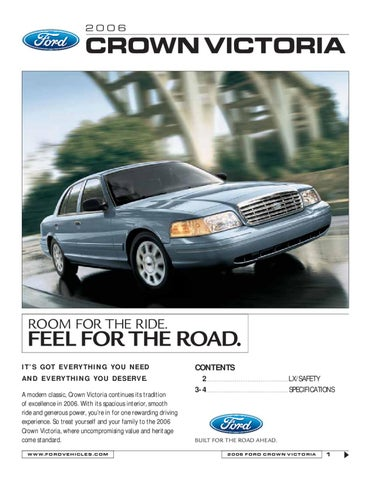 Ford Crown Victoria Brochure USA By Ted Sluymer Issuu - 2006 crown victoria