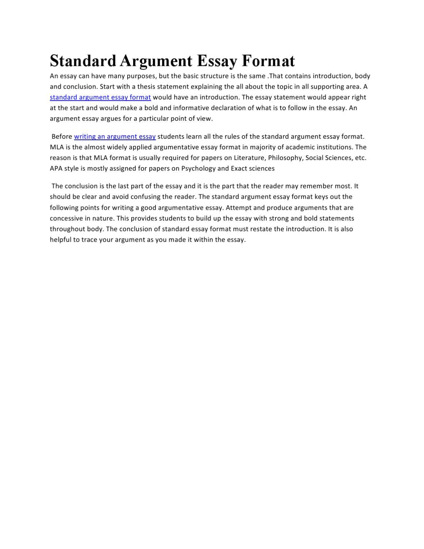 psychology argumentative essay