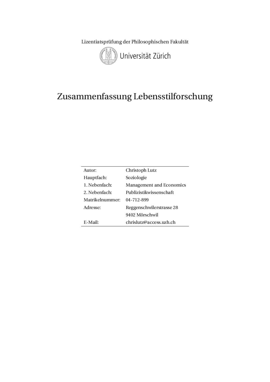 Zusammenfassung die feinen Unterschiede by Christoph Lutz - issuu