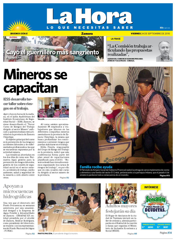 Diario La Hora Zamora 24 De Septiembre De 2010 By Diario La Hora  # Muebles Paquita Santa Cruz De La Zarza