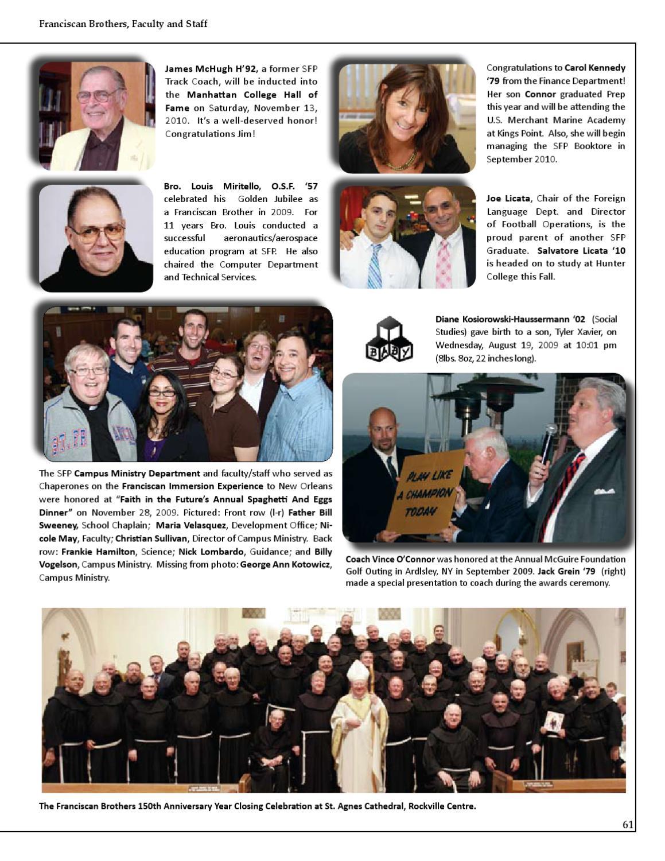 St  Francis Prep Grad News by St  Francis Preparatory School