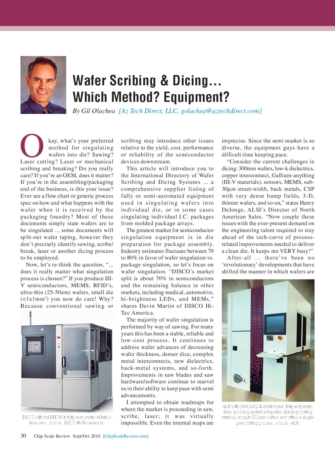 Chip Scale Review Magazine - Sep-Oct 2010 by Lawrence Michaels - issuu