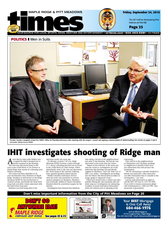 Maple Ridge Times - September 24, 2010 by Postmedia Community Publishing -  issuu