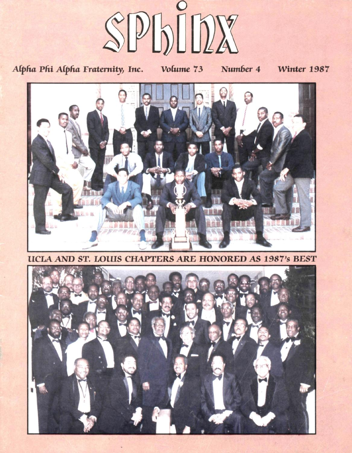1bb9b61bdb1 The SPHINX | Winter 1987 | Volume 73 | Number 4 198707304 by Alpha Phi Alpha  Fraternity - issuu