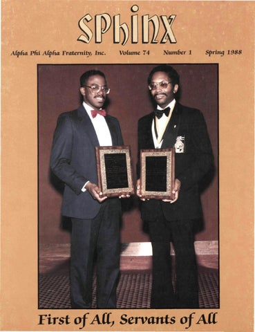 The Issuu - Volume 1988 Phi Spring 74 198807401 Alpha By Number Sphinx Fraternity 1