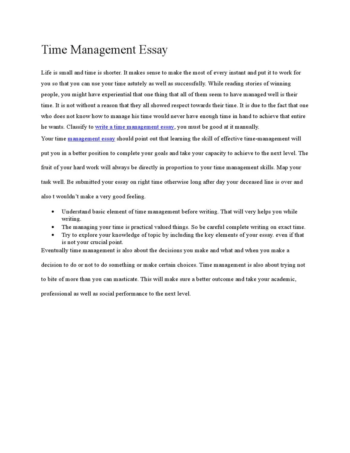 why study management essay