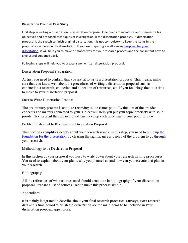 Dissertation Proposal Case Study by Mathew Stuart - issuu