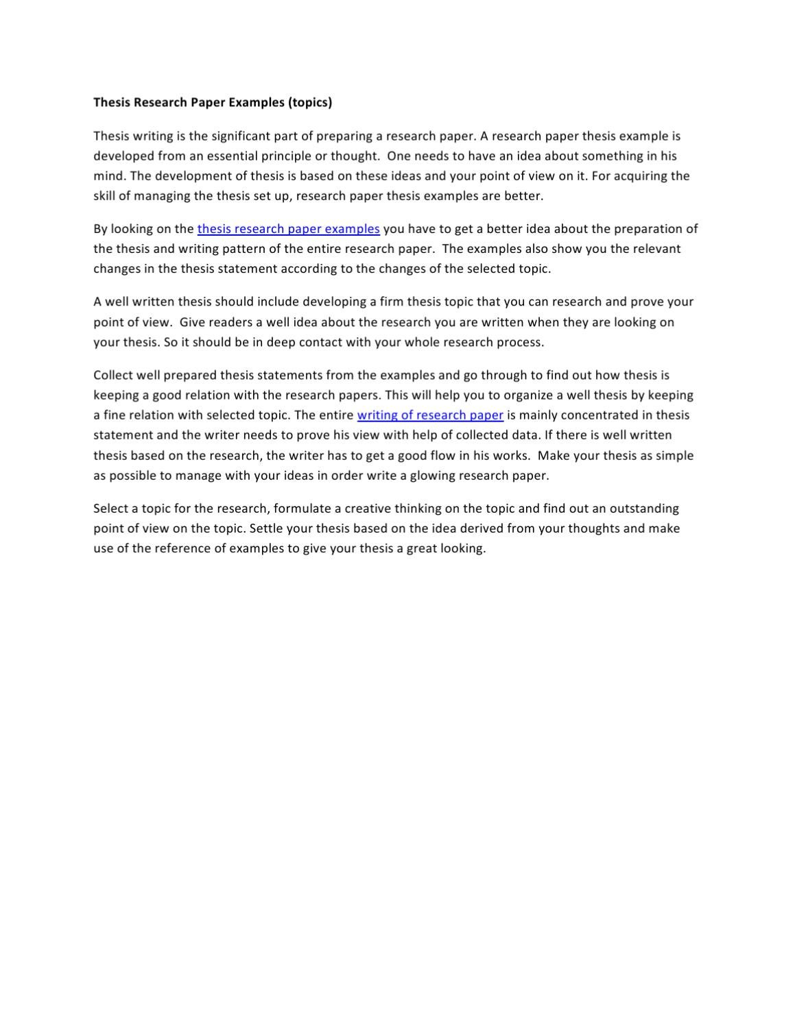 Thesis Research Paper Examples By Mathew Stuart Issuu