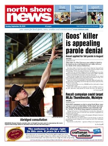 North Shore News - September 26, 2010 by Postmedia Community