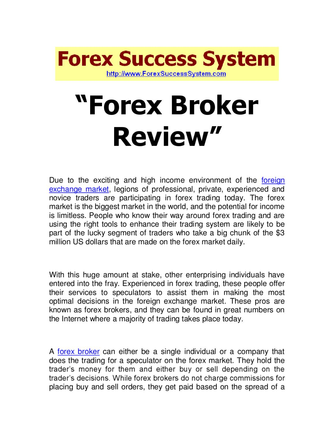 Forex company reviews