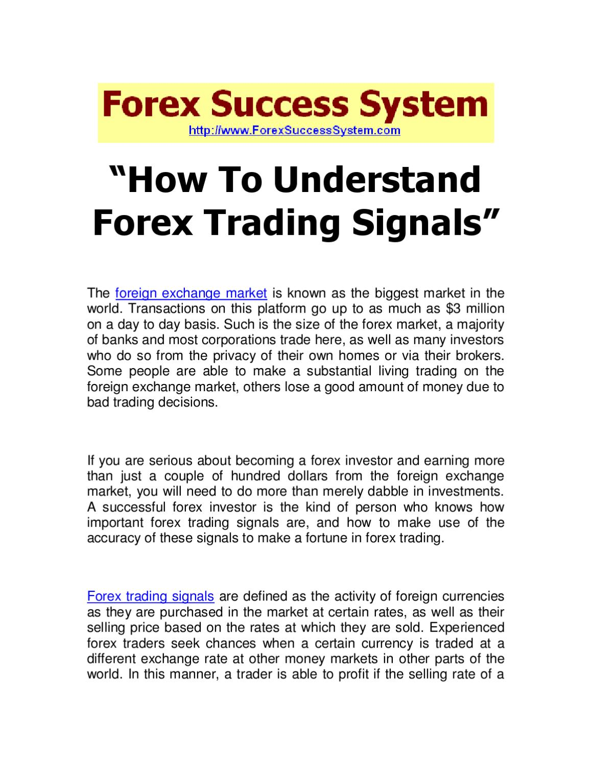 How to understand forex