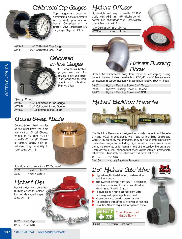 Darley Firefighting Equipment Catalog #254 by W  S  Darley