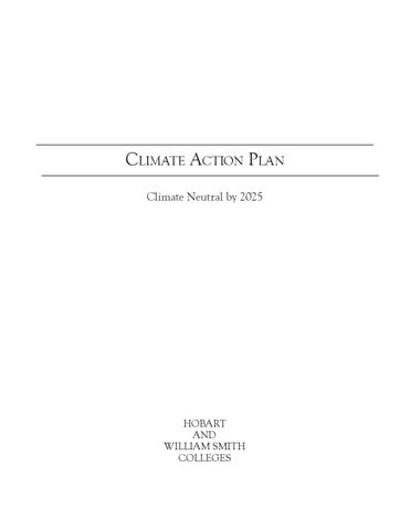 Climate Action Plan by Hobart and William Smith Colleges - issuu