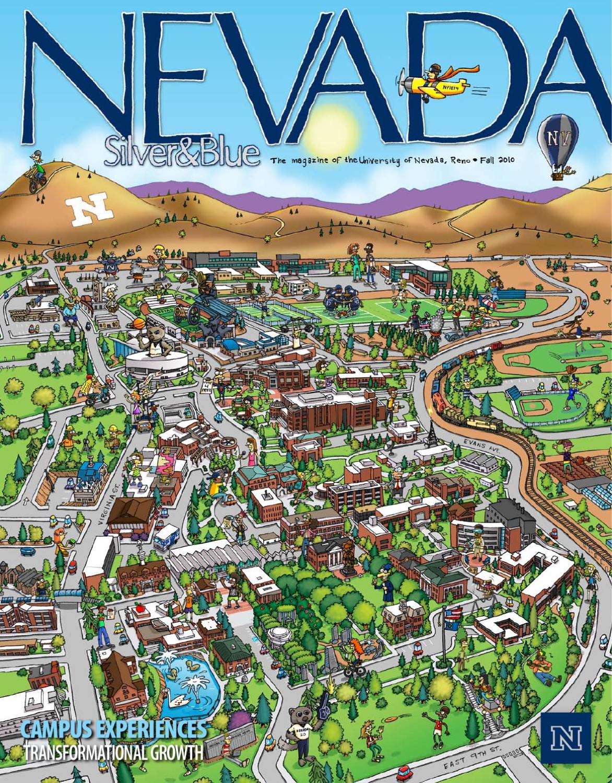 Unr Campus Map Pdf.Fall 2010 Nevada Silver Blue By Nevada Silver Blue Issuu