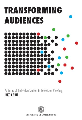 Transforming Audiences - Patterns of Individualization in Television ... 61e0d4eeab5e2