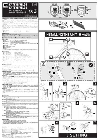 Cateye Velo 8 Manual By Giant Yukon Issuu