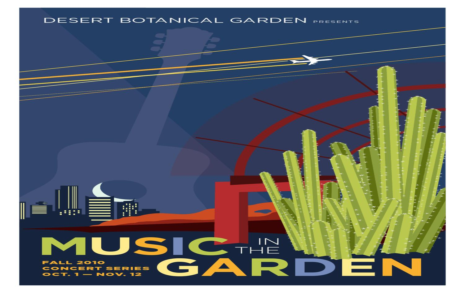 Music in the garden fall concert series by desert botanical garden issuu for Botanical gardens concert series