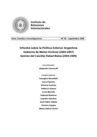 Política Exterior Argentina durante el gobierno de Kirchner by ...