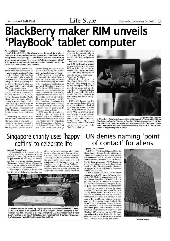 Edisi 29 September 2010 | International Bali Post by e-Paper KMB - issuu