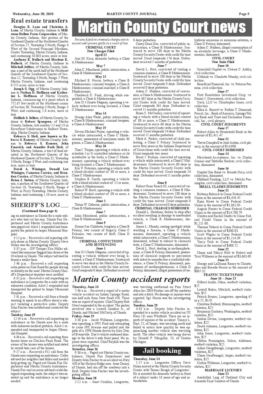 Journal 063010 by Martin County Journal - issuu