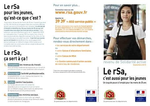 Rsa Jeunes By Conseil General De La Manche Issuu