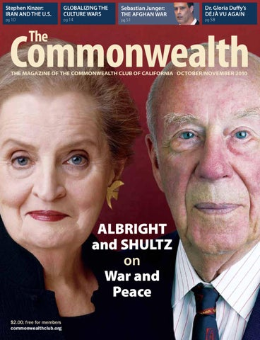 The Commonwealth Octobernovember 2010 By The Commonwealth Club Of