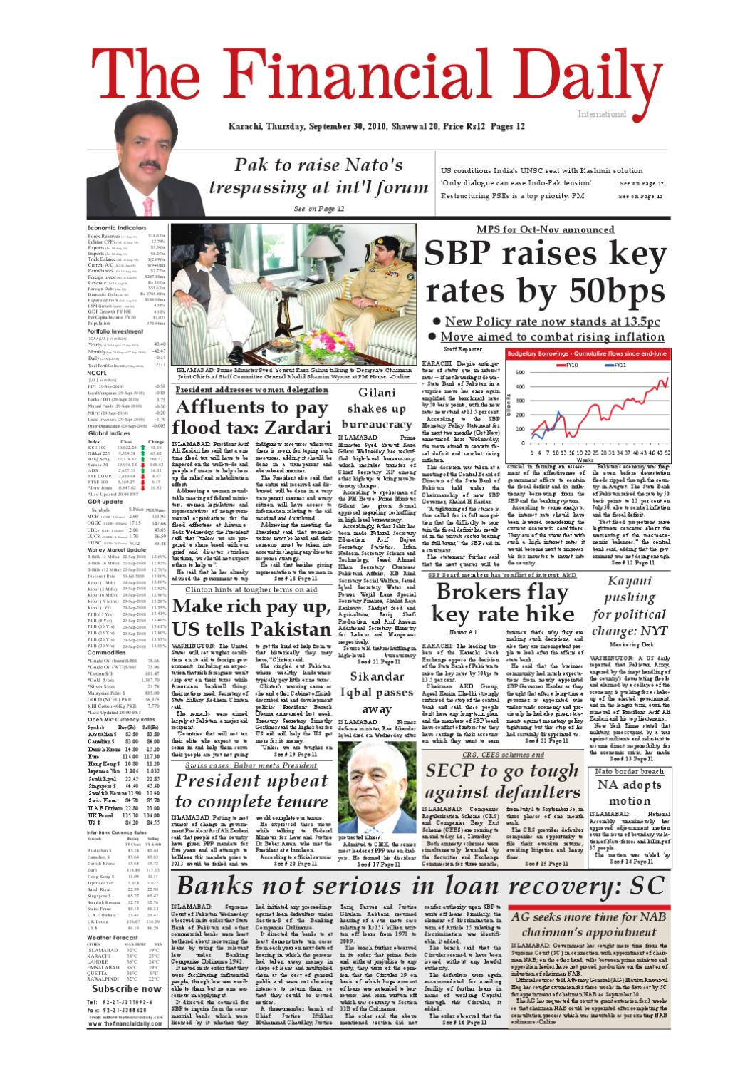 The Financial Daily Epaper 30-09-2010 by The Financial Daily - issuu