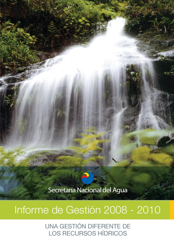 una gestion diferente de los recursos hidricos ecuador by