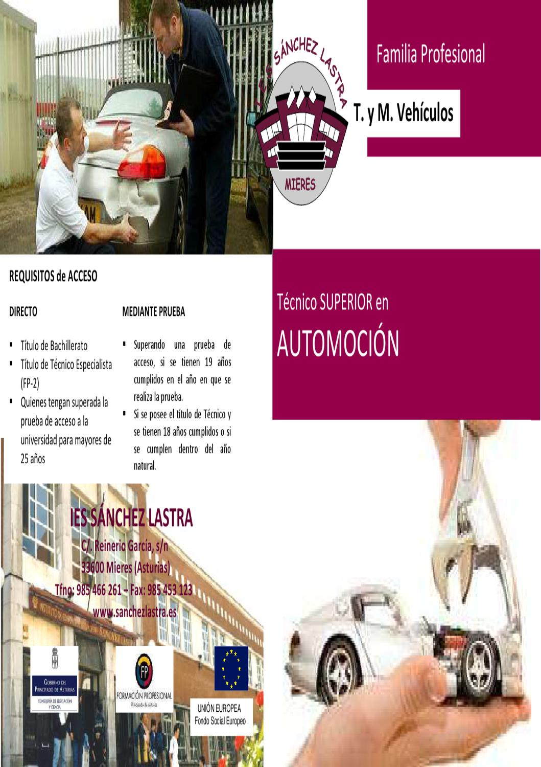 Automoci n by ies s nchez lastra issuu - Sanchez lastra ...
