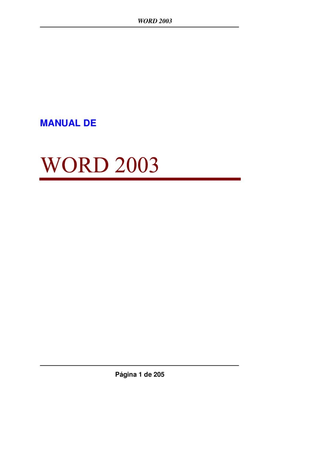 Manual Word 2003 by formacion axarquia - issuu