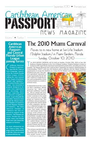 September - Caribbean American Passport News Magazine by