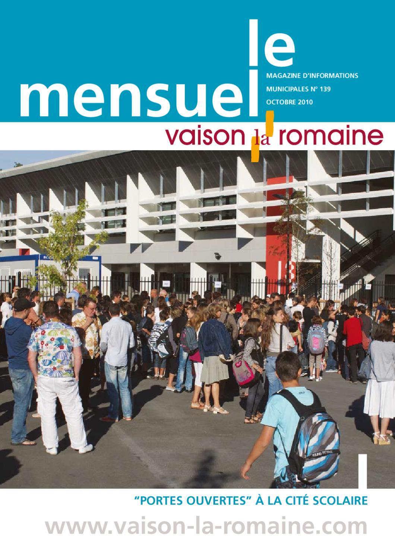 Alu Design Vaison La Romaine le mensuel. revue d'informations municipalesmairie