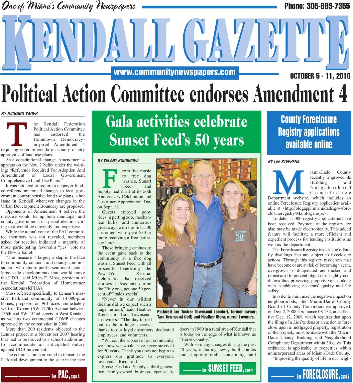 Kendall Gazette 10 5 2010 by munity Newspapers issuu