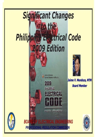 Significant changes to the pec 2009 by iiee state of qatar chapter significant changes to the philippine electrical code 2009 edition greentooth Image collections