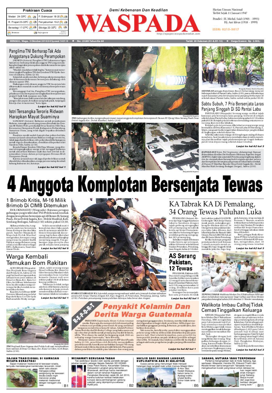 Waspada Minggu 3 Oktober 2010 By Harian Issuu Charger Warna Warni Merk Hasan Sj0048