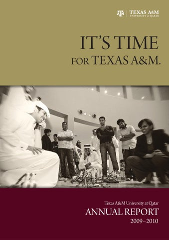 Texas A&M University at Qatar, annual report 2009-2010