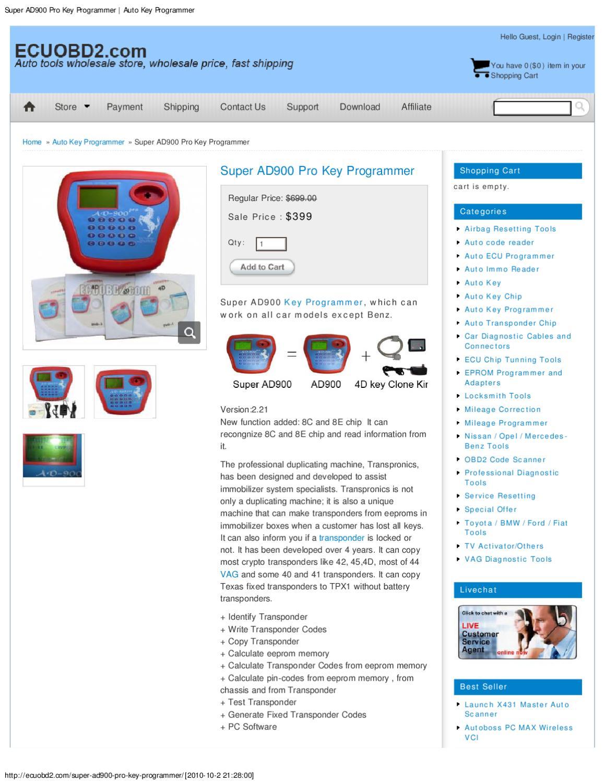 Super AD900 Pro Key Programmer _ Auto Key Programmer by