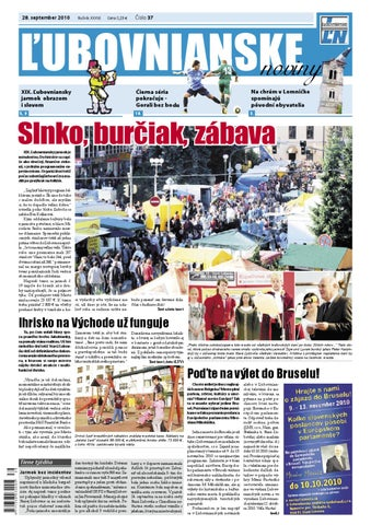 bda65a1c2 Ľubovnianske noviny č. 37 by Vladimir Zima - issuu