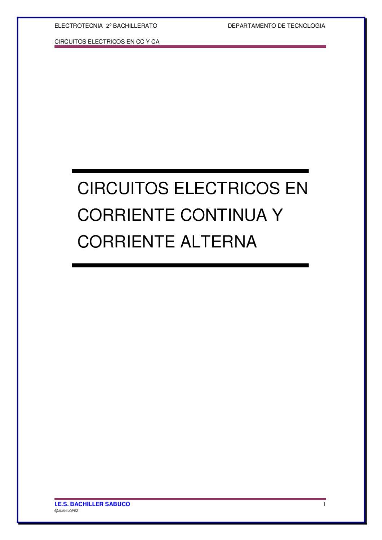 Circuito Hidraulico Mixto : Circuitos en c.c y c.a 1ª parte by juan lopez issuu