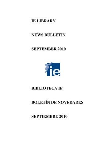 34e81bfdca3 News Bulletin September 2010 / Boletín de novedades septiembre 2010