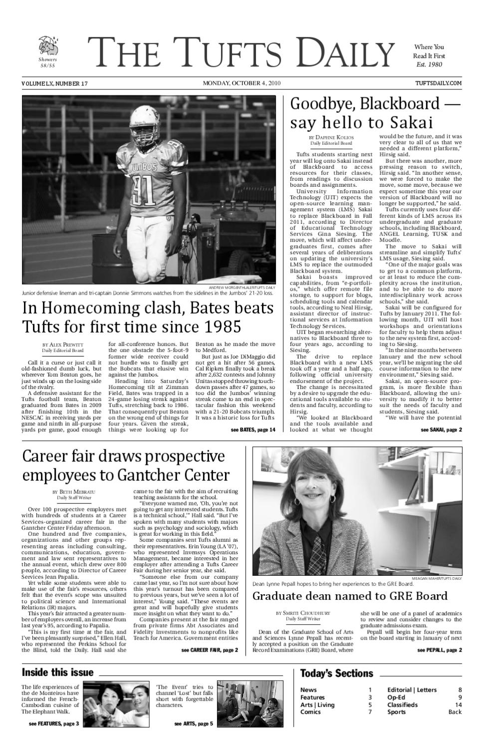 2010-10-4 pdf by Tufts Daily - issuu
