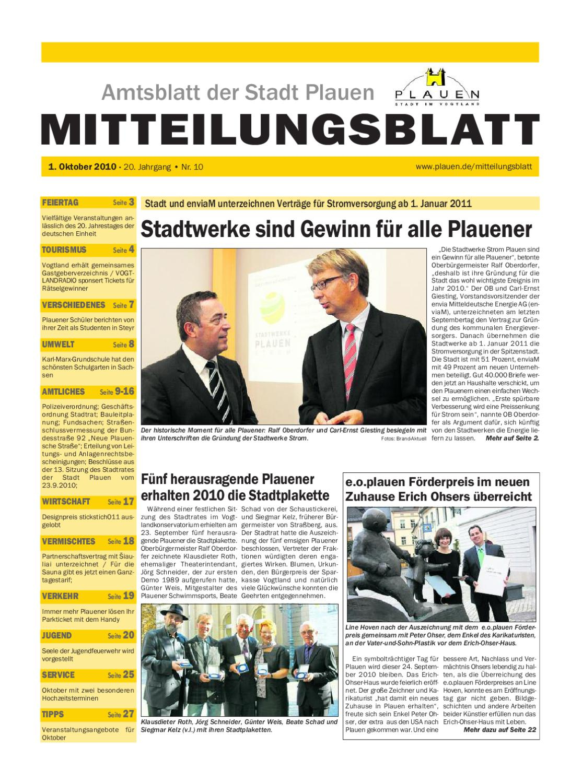 Amtsblatt Plauen By Page Pro Media GmbH Issuu