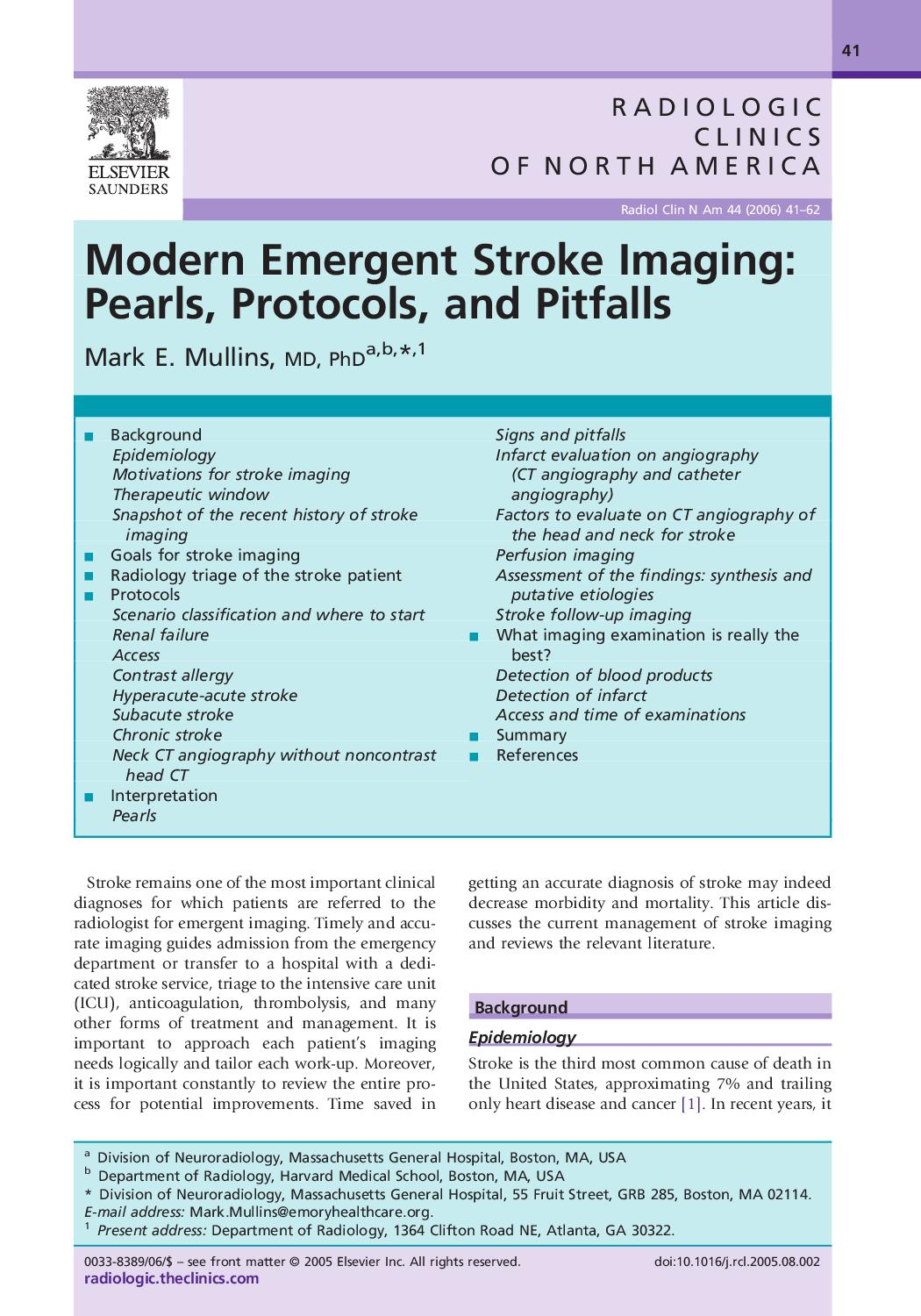 Imaging for stroke - Clinics by Clark1968 - issuu