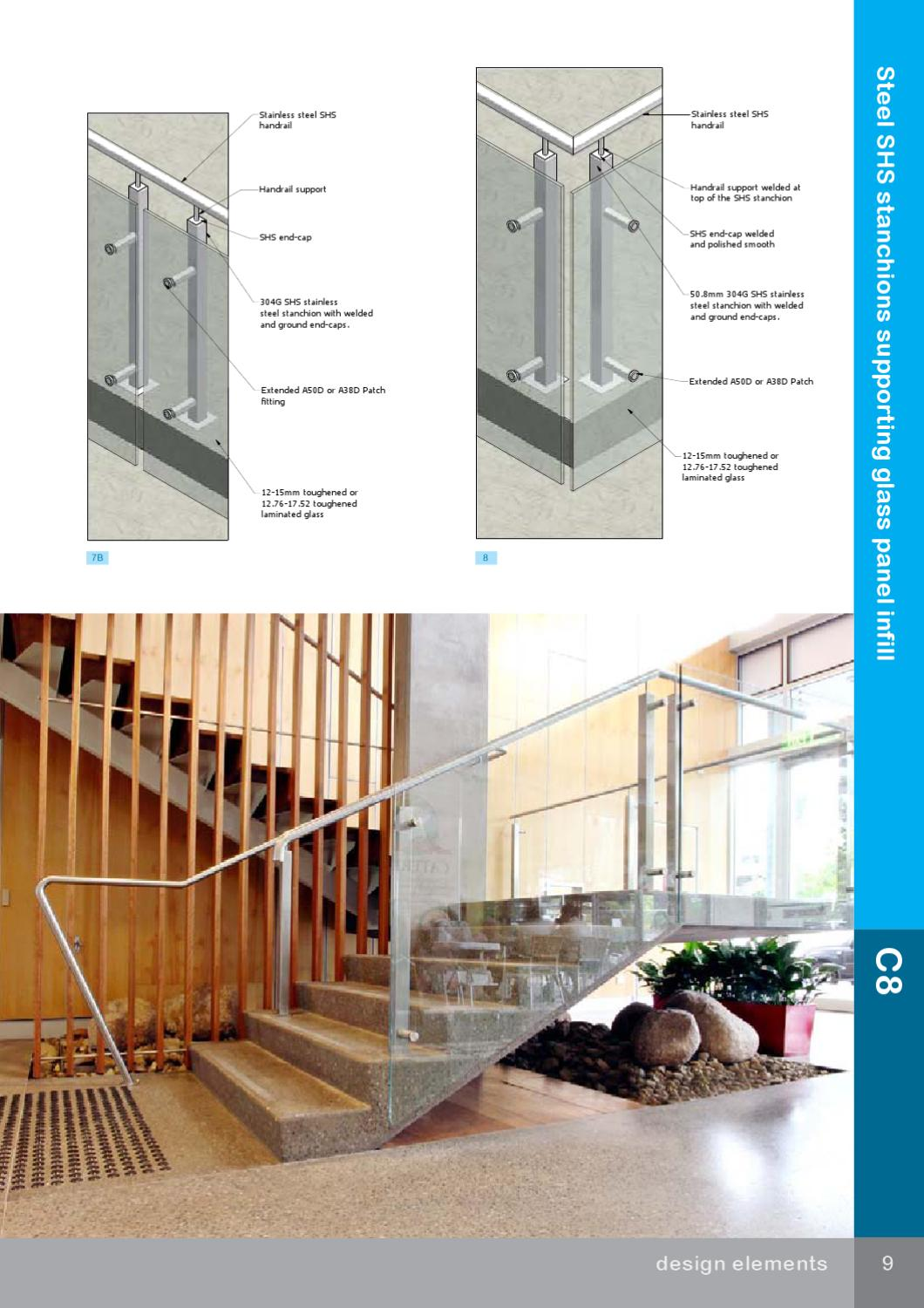 Glass Infill Photo Gallery: Steel SHS Stanchions Supporting Glass Panel Infill By Arden Architectural