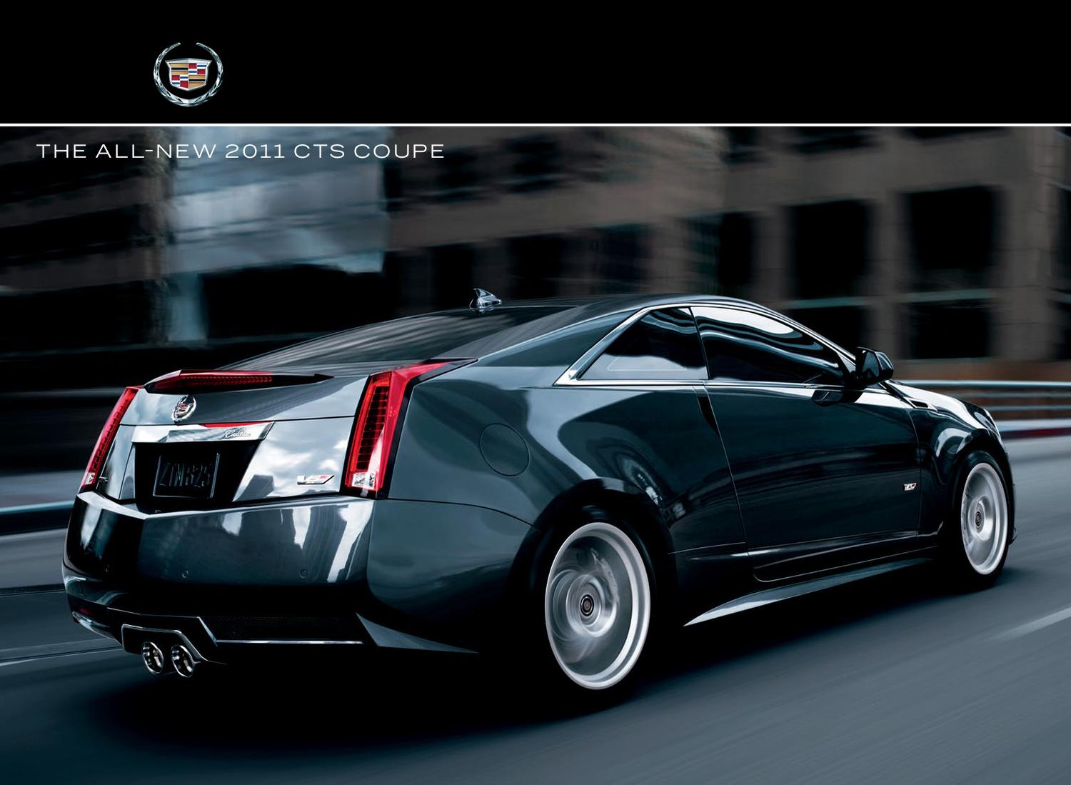 2011 Cadillac Cts Coupe Brochure Usa By Ted Sluymer Issuu