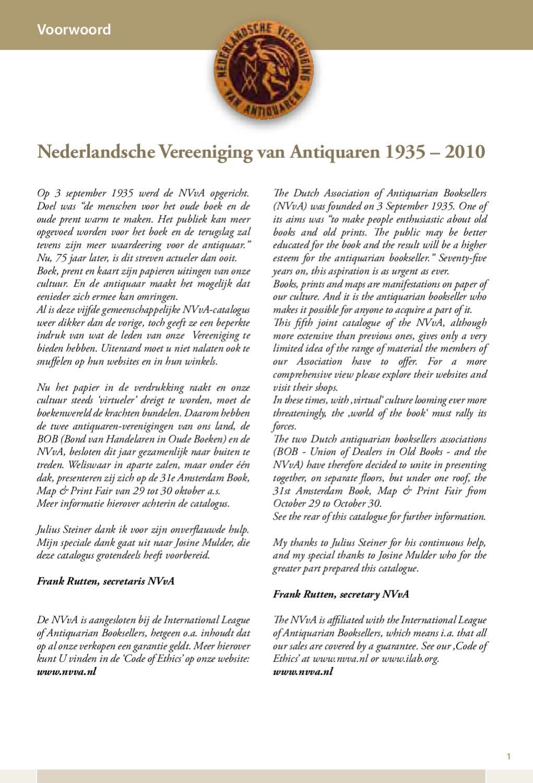 Joint Catalogue Gezamenlijke Catalogus Nvva 2010 By Amsterdam Book