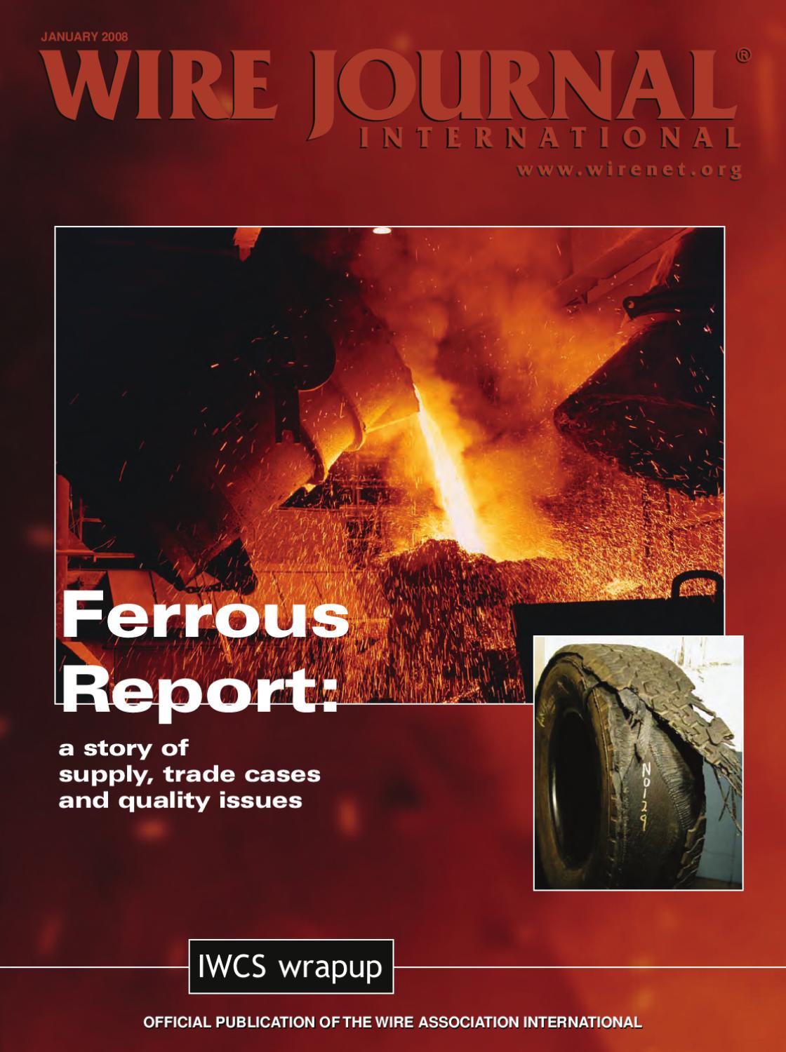 Ferrous Report A Story Of Supply Trade Cases And Quality Issues By Surface Mounted Box Wiring 1407 Chase Wire Journal International Inc Issuu
